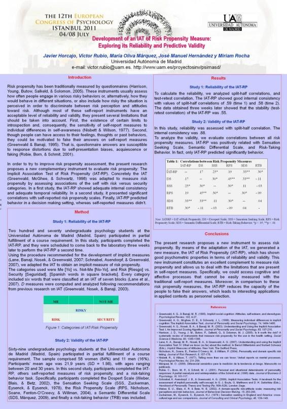 Celebración del XII Congreso Europeo de Psicología de la EFPA (4-8 julio)