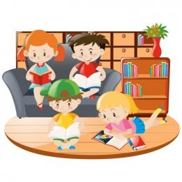 adultos-niños leyendo