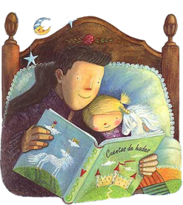 padre-hija leyendo