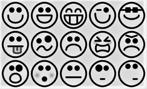 Emoticons-Caras-Feliz-Triste